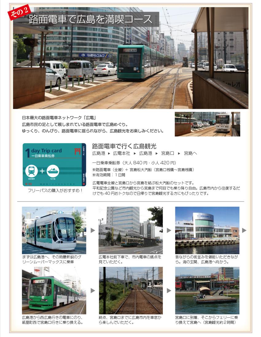 路面電車で広島を満喫コース
